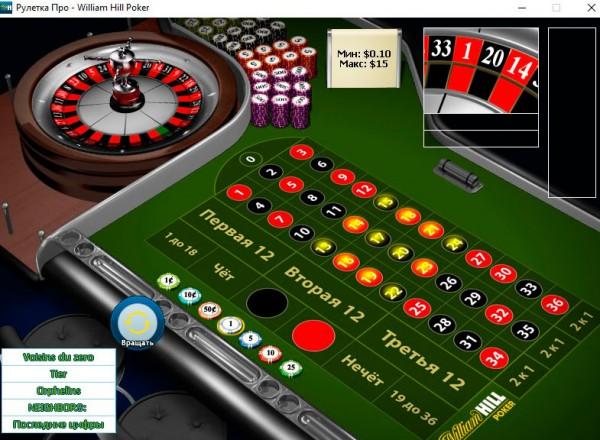 Рулетка в казино Виллиам Хилл