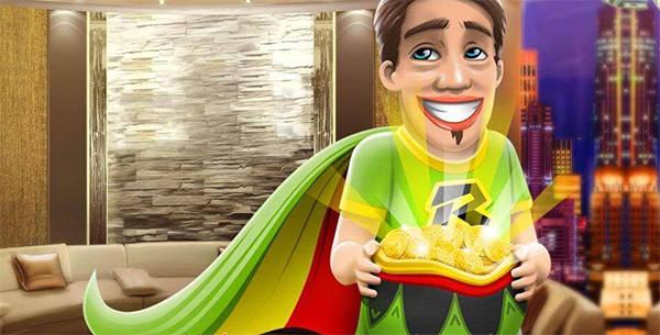 Боб в зеленой мантии с кучей золота