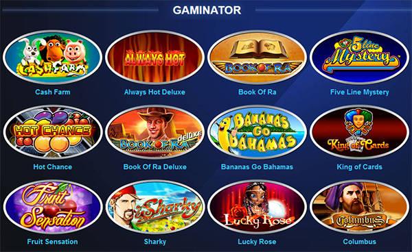 Разнообразие игр в казино Multi Gaminator Club