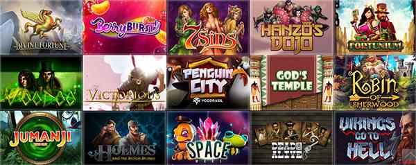 Разнообразие игр в Slot V Casino